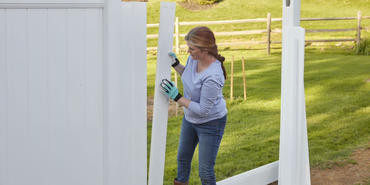 DIY vinyl and aluminum fences